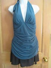 NEW Magicsuit 14 MIRACLESUIT SWIMSUIT TANKINI 2 PC Traci Green Skirted Bottom