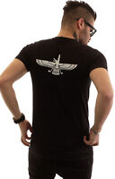 Men's Farvahar V-Neck T-Shirt Iran Farohar Iranian Persian Zoroastrian Faravahar