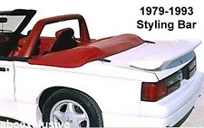 MUSTANG STYLING BAR, no Light, Black ONLY, 1990 -1993, (1979 -89 see note)