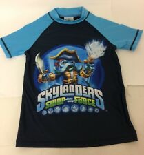 Skylanders Swap Force Boys Blue T Shirt 7-8 Years UPF 50+ Stretch Height 128cm