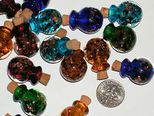 1pc Murano Glass Crystal Ball potion oil perfume bottle cork Pick your Color 1""