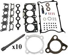 VW JETTA 00 04 1.8 TURBO Cylinder Head Gasket Set + 10 Bolts AWP AWD AWW NEW
