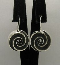 STERLING SILVER EARRINGS SOLID 925 SPIRAL HANDMADE NEW E000355 EMPRESS