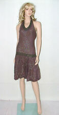 Tammy Girl Brown Evening Dress Ladies Size 12 (or Girls 176cm) Party Frock