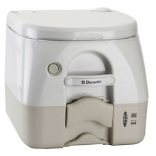 Dometic - 974 Portable Toilet 2.6 Gallon - Tan w/Brackets model 301097402