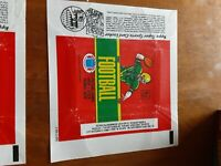 1980 Topps Football Card Wax Pack Wrappers - LOT of 4 different Variations