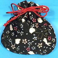 Japanese Chirimen Kimono Crepe Fabric Mini Pouch Cute Kawaii Kyoto Japan D