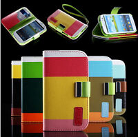 Handytasche flipcase Cover f. GALAXY S3 S4 mini S5 Note 2 3 iphone 4 4s 5 5s 5c