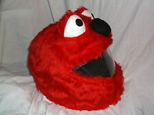 MOTORBIKE FUNNY HEEDS CRAZY CRASH HELMET COVERS MOTORCYCLE  COVER RED ELMO NEW