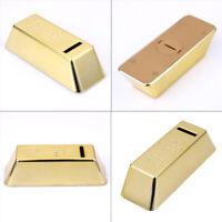 Moneybox Gold Bullion Bar Piggy Bank Brick Coin Bank Saving Cash Money Box UK