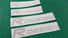 Volvo V40 S60 C30 V70 V50 T5 R Design decals Stickers red & Silver