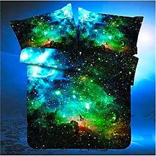 Queen Size 4pcs Bedding Set 3D Oil Print Space Galaxy Duvet Cover Pillow Cases