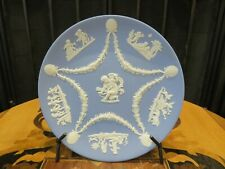 Vintage Wedgwood Blue Jasperware Collector's Society Cupid & Bow Trophy Plate