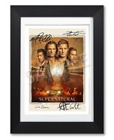 SUPERNATURAL SEASON 15 CAST SIGNED TV SHOW SERIES POSTER PHOTO AUTOGRAPH GIFT