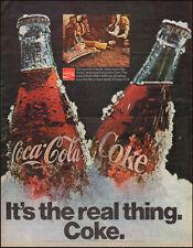 1971 Vintage ad for Coca Cola`Soda Retro Bottles Photo Ice   061017