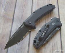 "KERSHAW ""LINK"" BLACK WASH SERIES SPRING ASSISTED POCKET KNIFE ""MADE IN USA"""