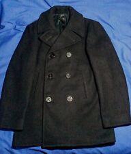 PEA COAT US NAVY Issue 100% Wool ORIGINAL~AUTHENTIC Size 38 EXCELLENT & VINTAGE