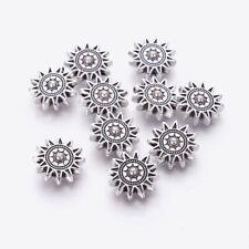Sun Beads Metal Antique Tibetan Silver 17x6mm x 10 pcs