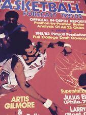 NBA Forecast Magazine 1981-82 & 86-87 Artis Gilmore Ewing Olajuwon