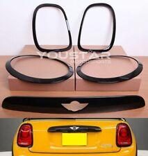 Black Headlight Rear Light Trunk Lid Door Handle Gas Cap for MINI Cooper S F56