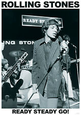 POSTER Rolling Stones-Ready Steady Go! - Mick Jagger ca60x85cm NUOVO 15190