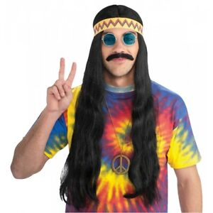 Hippie Wig with Headband Adult Halloween Costume Fancy Dress