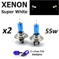 Lampadine H7 Alogene  Effetto Xenon Super Bianca Ultra Bianco 55W/12V 6000K