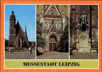 LEIPZIG Sachsen DDR Postkarte Messestadt 1987 Verlag Bild und Heimat, ungelaufen