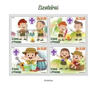 Sao Tome & Principe Scouting Stamps 2020 MNH Girl Boy Scouts Nature 4v M/S