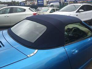 MGF & MG TF Mk1/2 - Blue Mohair Hood & Plastic Window Section
