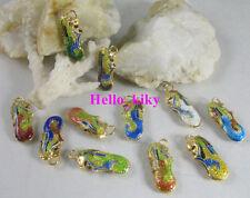 50 pcs Mixed colour cloisonne enamel lion charms M2228