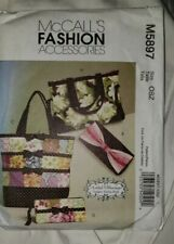 MCCALL'S FASHION ACCESSORIES TOTES AND BAGS PATTERN M5897