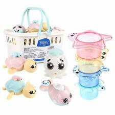 Baby Bath Toys Water Stacking Cups Bathing Bathtime Toy Water Mill Floating 8pcs