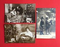 3 x Glückwunsch Foto AK WEIHNACHTEN 1918/27 Liebespaar Frau und Kinder  ( 45325