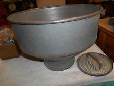 Vintage Galvanized Milk Cream Separator Funnel with strainer