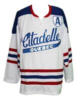 Any Name Number Size Quebec Citadelle Retro Hockey Jersey White