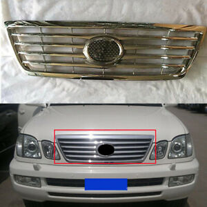 Front Radiator Grille Grill 1PC Chromed ABS Refit for Lexus LX470 CYGNUS 2003-05