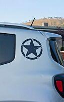 Adesivo stella militare modello americano per jeep renegade o 4x4 tuning suv