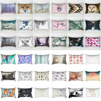 ITS- 30×50cm Rectangular Pillow Case Sofa Waist Throw Cushion Cover Home Decor