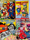 4 Antique Children's Picture Books Classics Tales Lithographs Lot#20 Bears Pigs