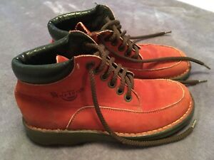 Dr. Martens Suede Boots UK 4 Terracotta Colour Air Wair Made In England
