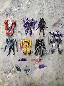 Lot Of 7 Transformers RID Robots In Disguise Legion Megatron, Soundwave, Vehicon