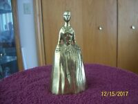 Virginia Metalcrafters Vintage Cast Brass Colonial Lady Bell