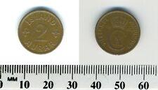 Iceland - Kingdom 1940 N-GJ - 2 Aurar Bronze Coin - Christian X - WWII mintage