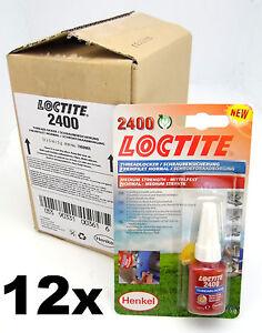 Box of 12- Loctite 2400 Medium Strength Thread Lock & Sealant- Stud/ Nutlock