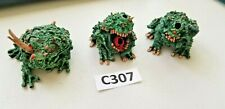 GW Forge World Nurgle Plague Toads Painted (base coated) x3 missing Horns