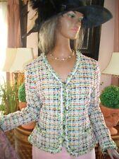 Lujo Couture Escada boucle blazer tweed Jacket multicolor 44/46 np980 Golf Club