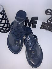 Navy blue ornate thong sandals New in box Pierre Dumas Limit-11 Size 8.5