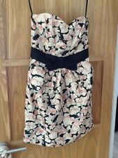 Very pretty H & M Strapless floral with bow Dress EU 38 EXCELLENT  CONDITION