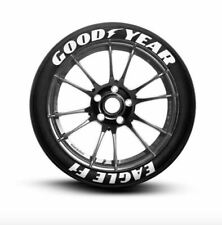 "Tire Lettering permanent GOOD YEAR EAGLE F1 Stickers Wheel 14""-24""TYRE Pack1.25"""